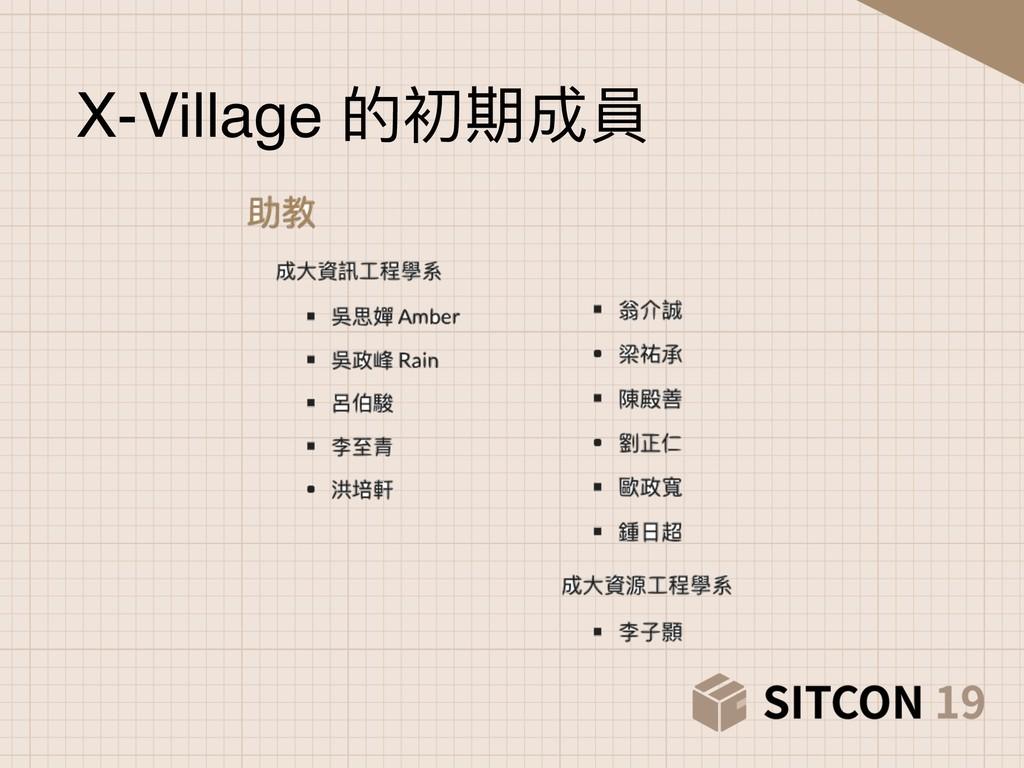 X-Village 的初期成員