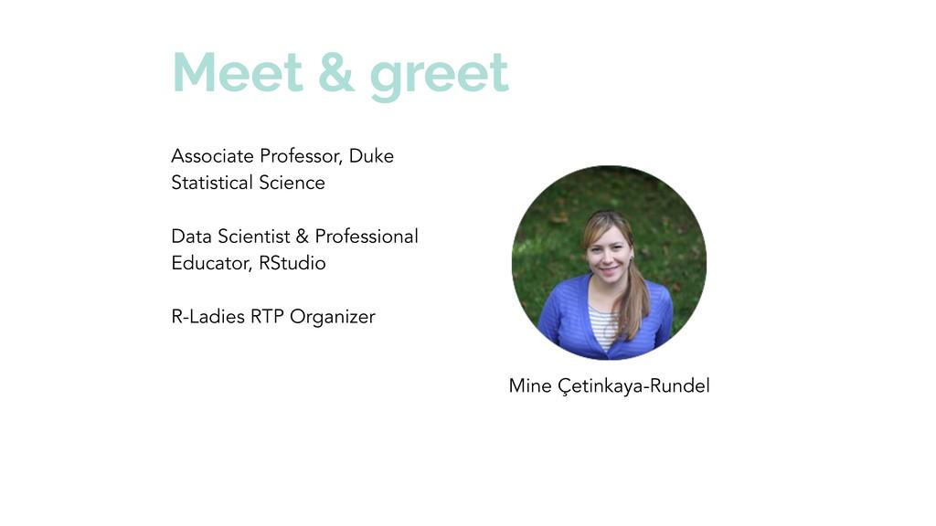 Meet & greet Associate Professor, Duke Statisti...