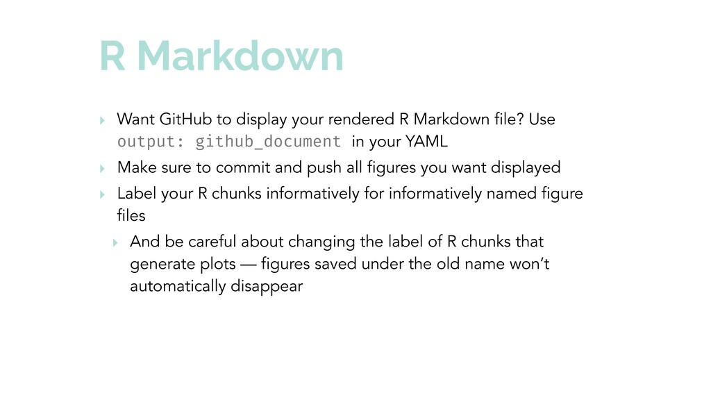 R Markdown ‣ Want GitHub to display your render...