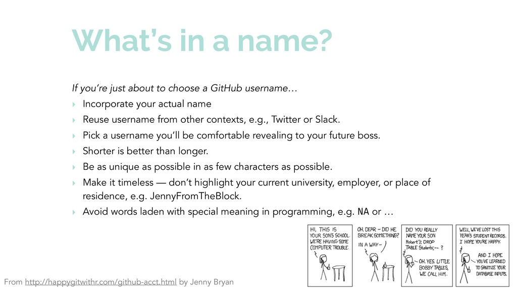 What's in a name? If you're just about to choos...