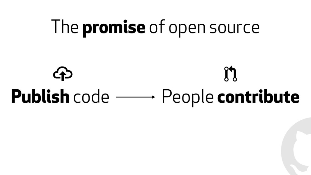 The promise of open source Publish code People ...