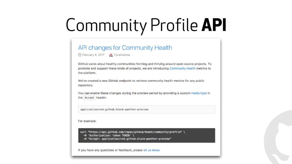 Community Profile API