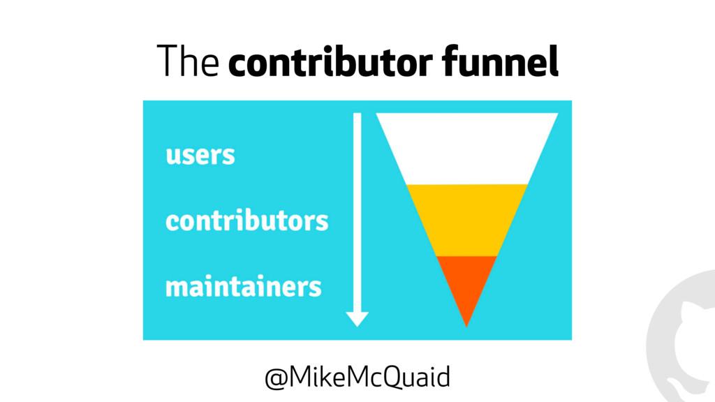 The contributor funnel @MikeMcQuaid