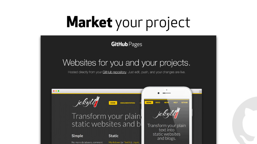 Market your project