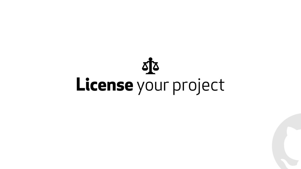 License your project