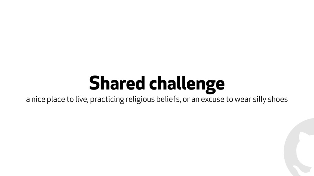 Shared challenge a nice place to live, practici...