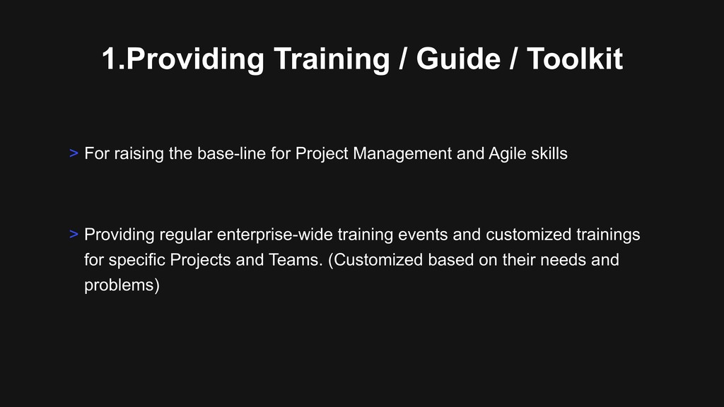 1.Providing Training / Guide / Toolkit > Provid...