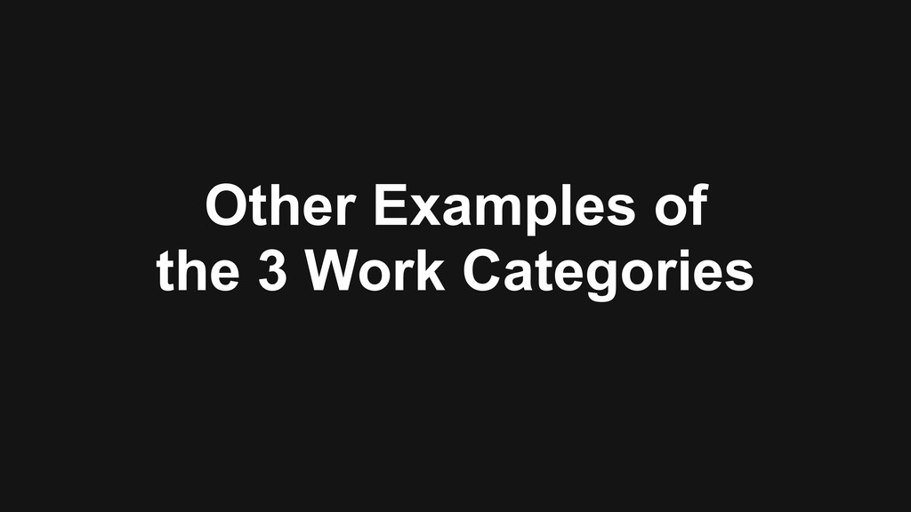 Other Examples of 
