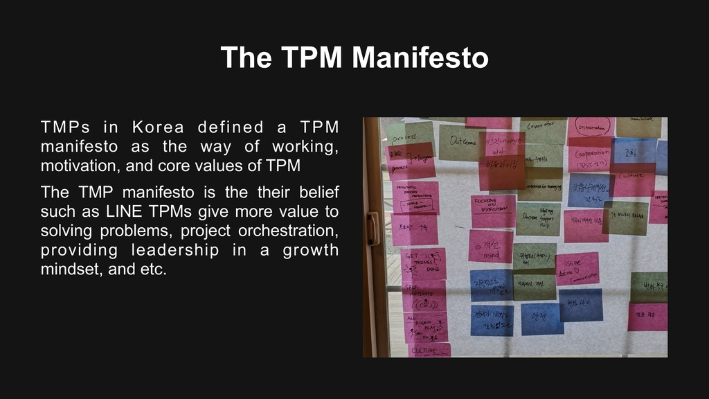 The TPM Manifesto TMPs in Korea defined a TPM m...