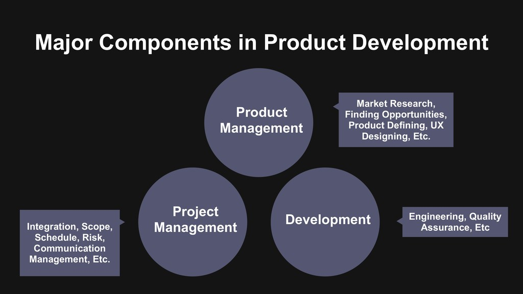 Major Components in Product Development Project...