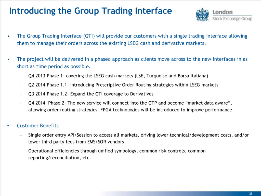 26 Introducing the Group Trading Interface • Th...