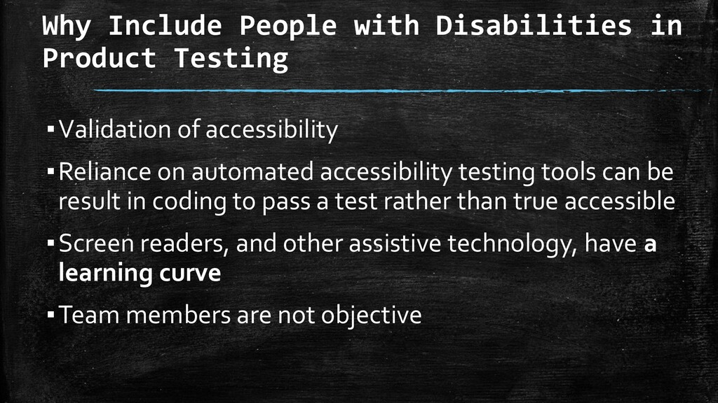 Why Include People with Disabilities in Product...