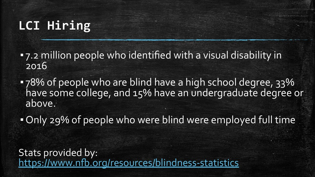 LCI Hiring ▪7.2 million people who identified wi...