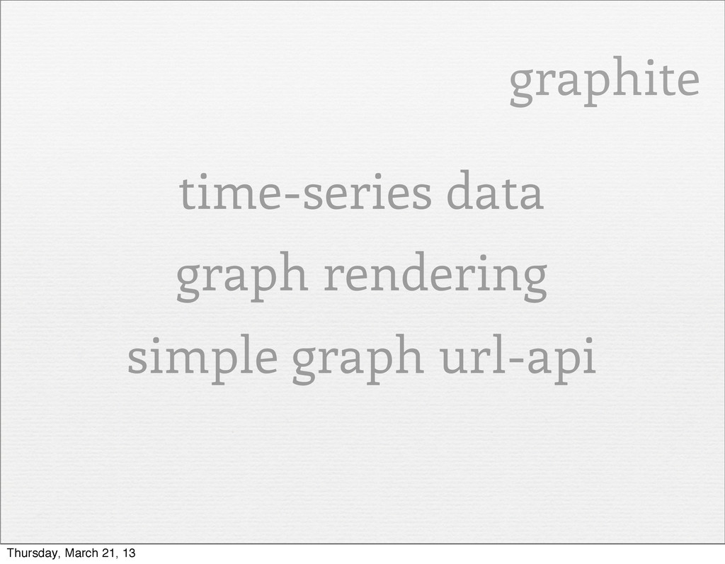 graphite time-series data graph rendering simpl...