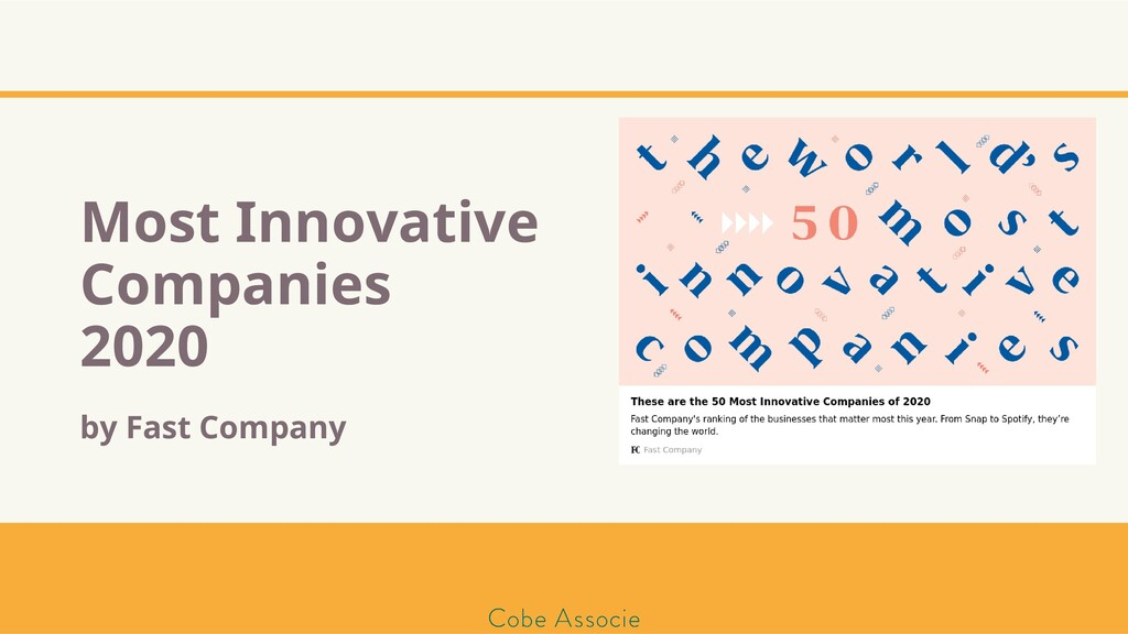 Most Innovative Companies 2020 by Fast Company