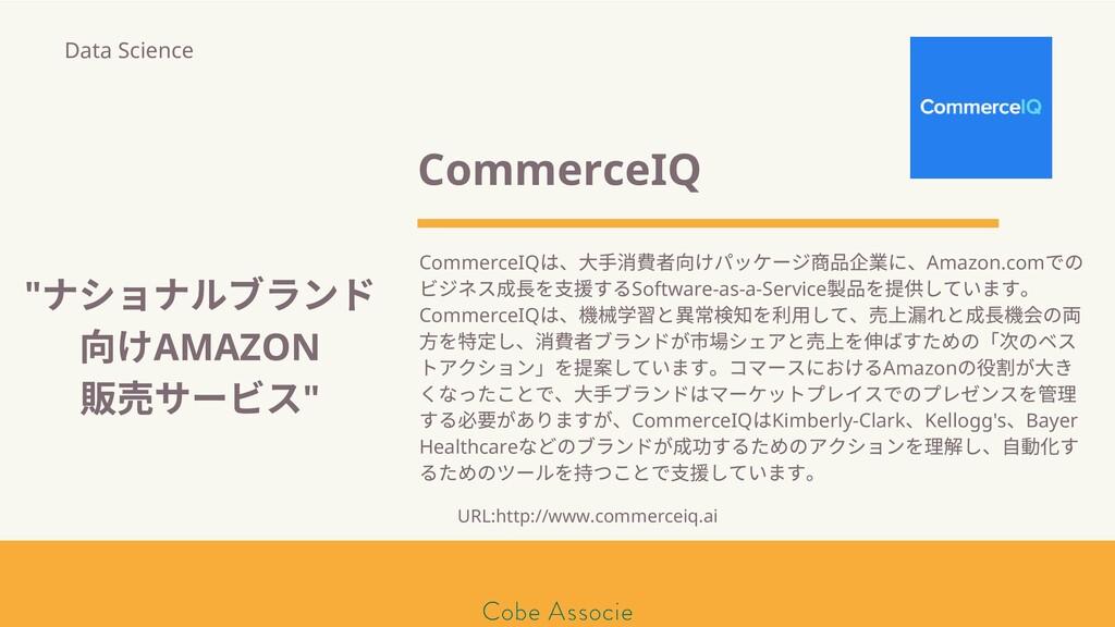 モールソン&フラー 築2020 CommerceIQ CommerceIQ は、⼤⼿消 者向け...