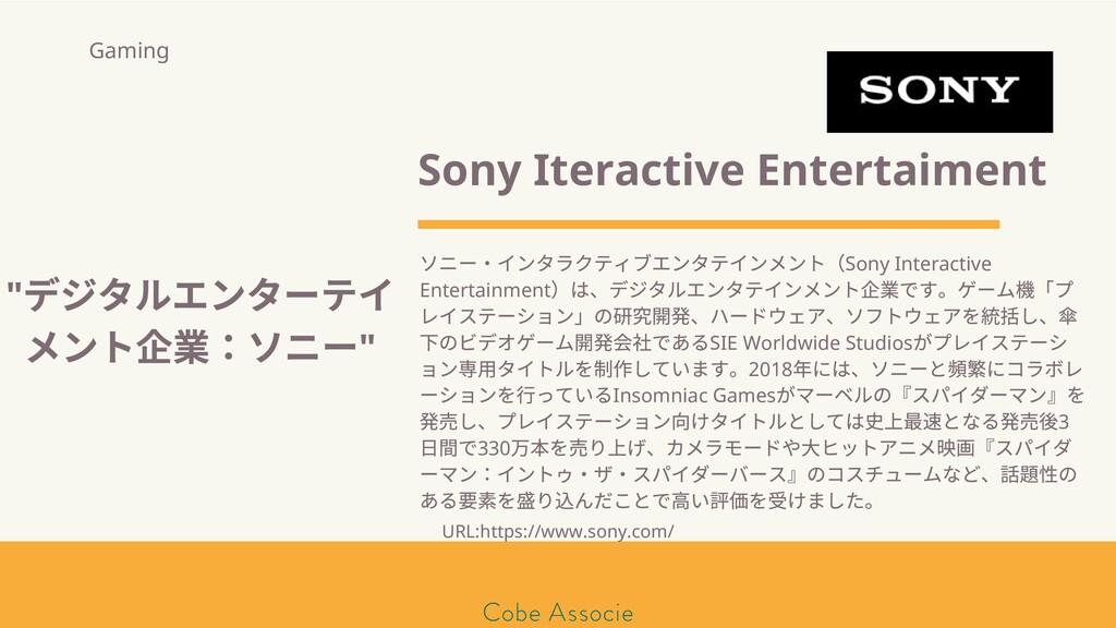 モールソン&フラー 築2020 Sony Iteractive Entertaiment ソニ...