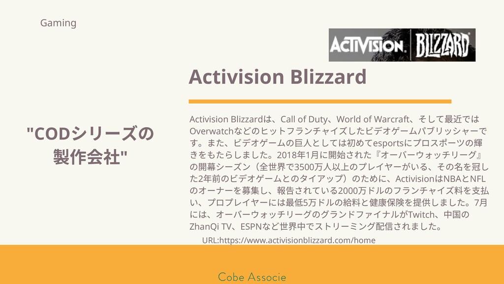 モールソン&フラー 築2020 Activision Blizzard Activision ...
