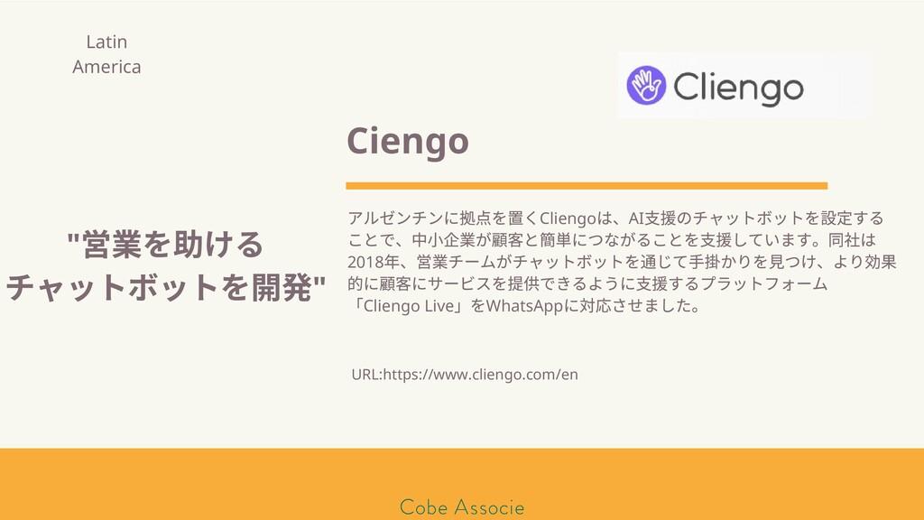 モールソン&フラー 築2020 Ciengo アルゼンチンに 点を くCliengo は、AI...