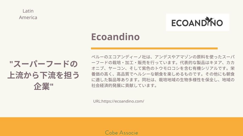 モールソン&フラー 築2020 Ecoandino ペルーのエコアンディーノ は、アンデスやア...