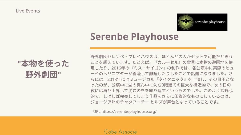 モールソン&フラー 築2020 Serenbe Playhouse 野 団セレンベ・プレイハウ...