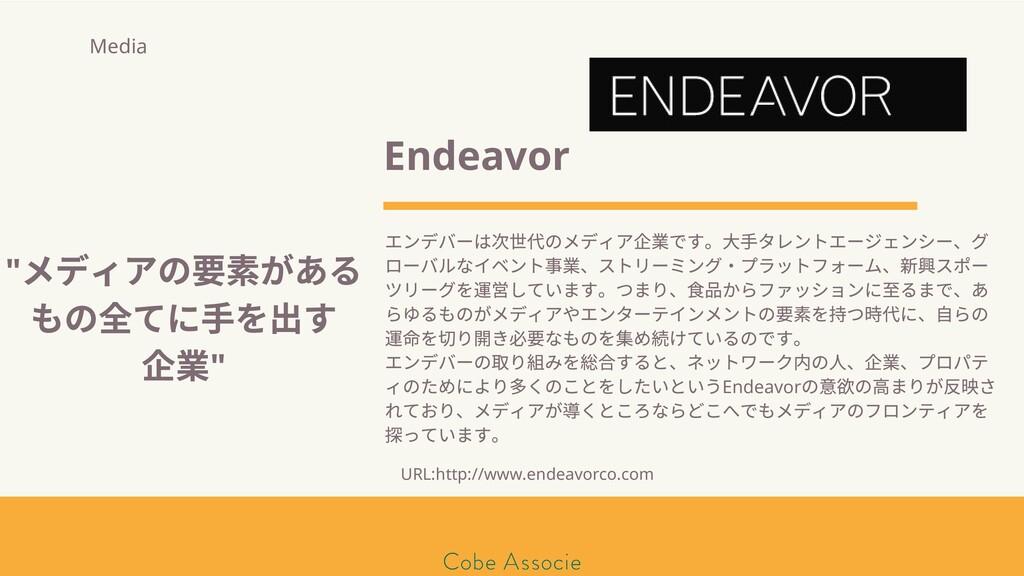 モールソン&フラー 築2020 Endeavor エンデバーは 代のメディア 業です。⼤⼿タレ...