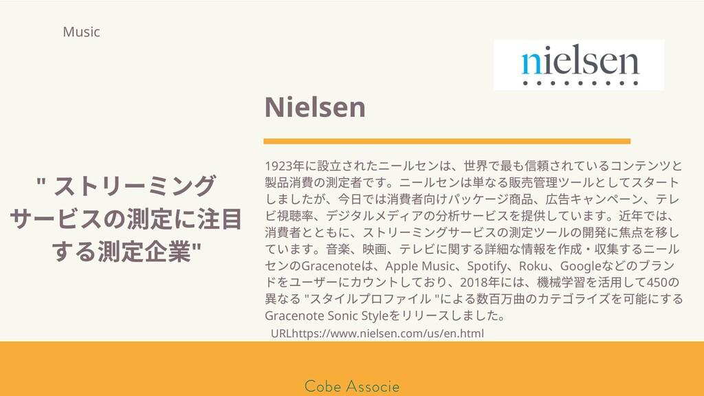 モールソン&フラー 築2020 Nielsen 1923 年に 立されたニールセンは、 界で ...