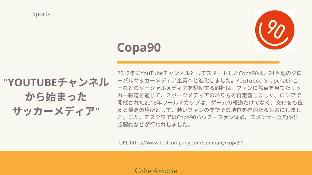 モールソン&フラー 築2020 Copa90 2012 年にYouTube チャンネルとしてス...
