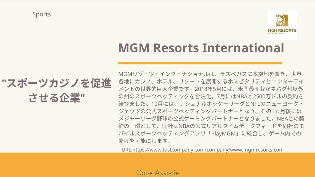 モールソン&フラー 築2020 MGM Resorts International MGM リ...