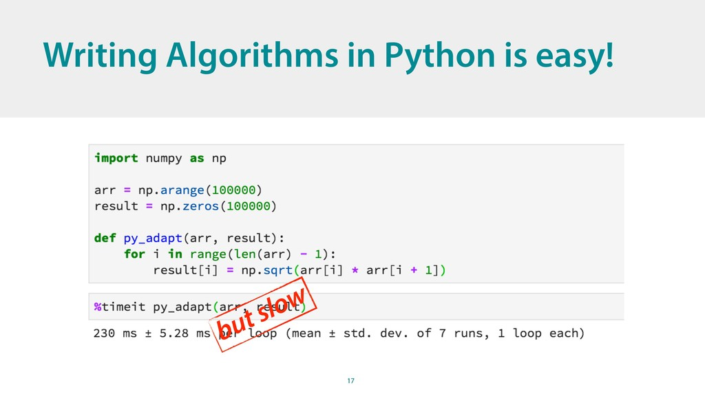 17 Writing Algorithms in Python is easy! but sl...