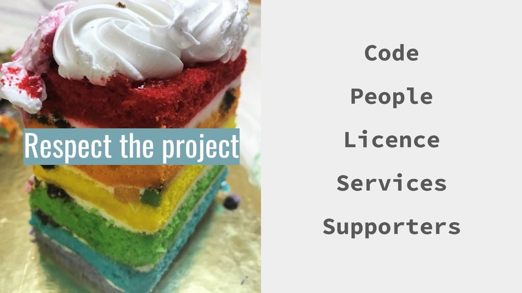 Respect the project Code People Licence Service...