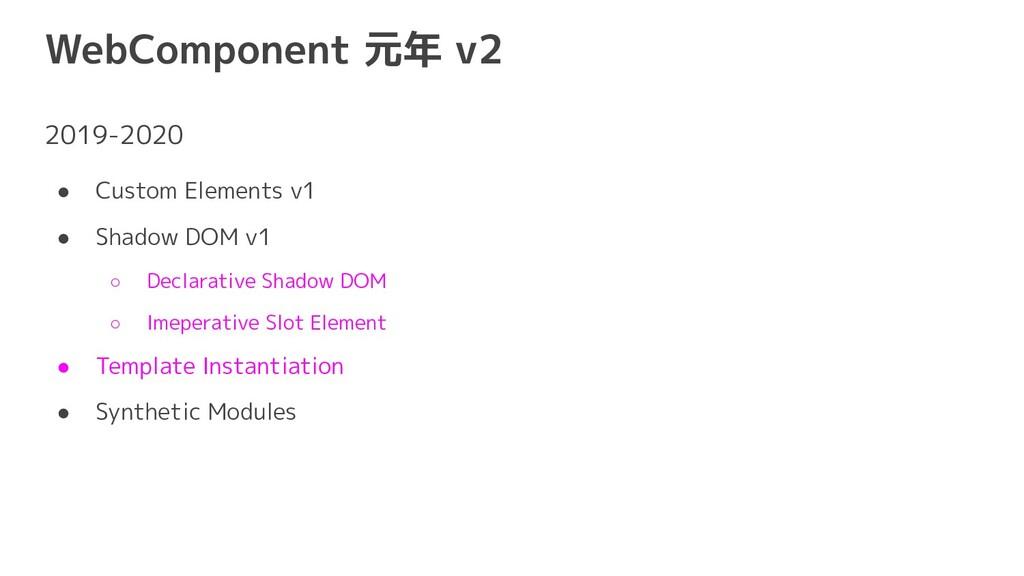 WebComponent 元年 v2 2019-2020 ● Custom Elements ...