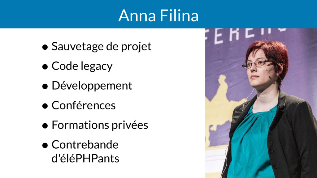 Anna Filina • Sauvetage de projet • Code legacy...