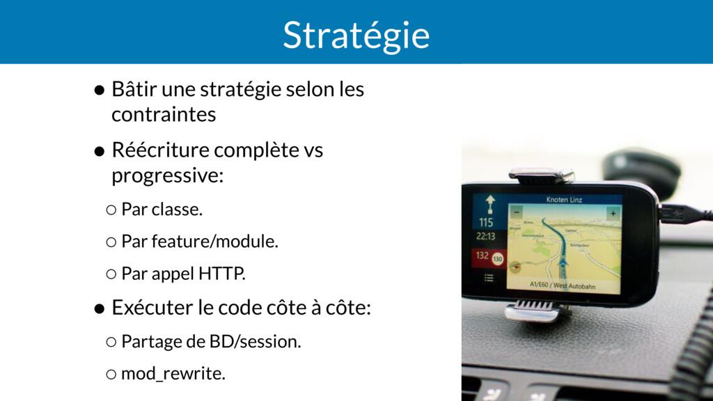 Stratégie • Bâtir une stratégie selon les contr...