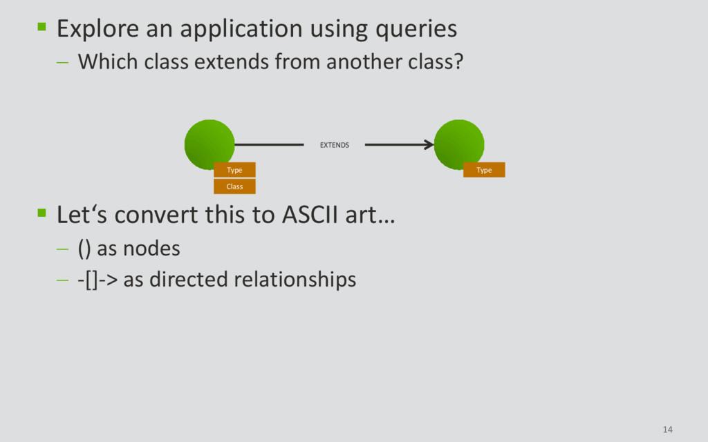 14 Type Type Class EXTENDS  Explore an applica...