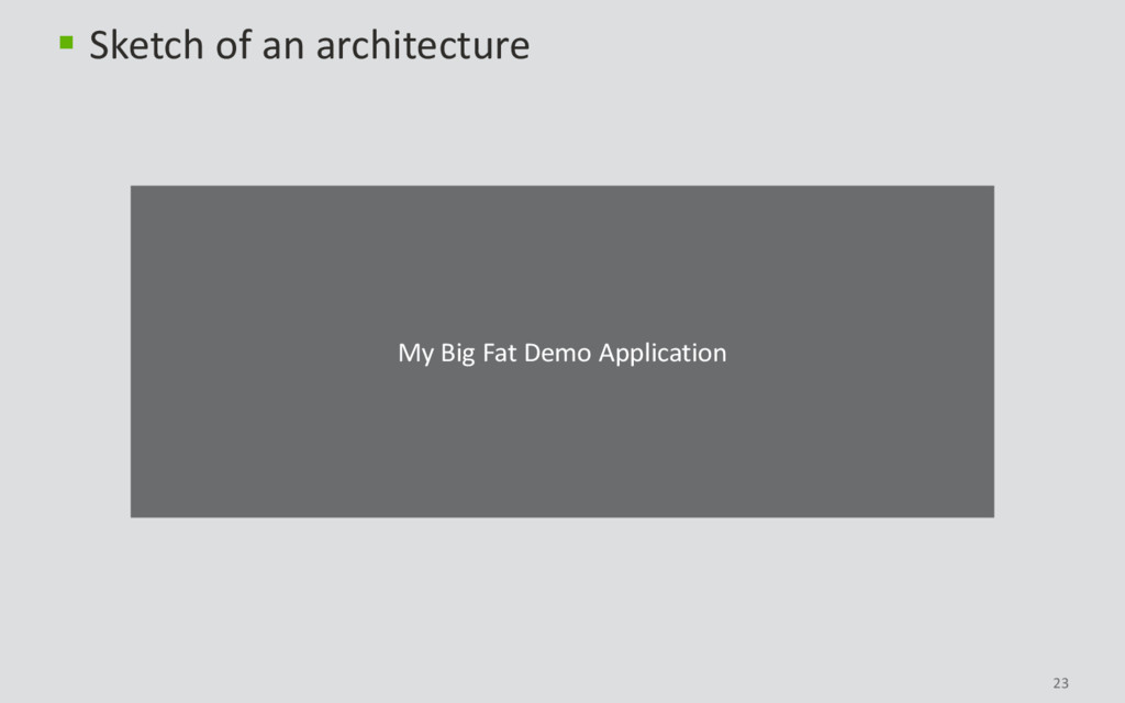 23  Sketch of an architecture My Big Fat Demo ...