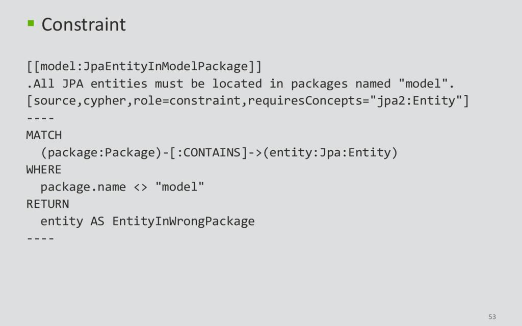 53  Constraint [[model:JpaEntityInModelPackage...