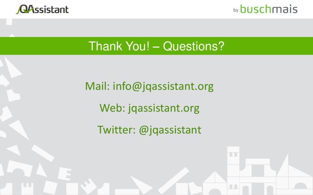 Mail: info@jqassistant.org Web: jqassistant.org...