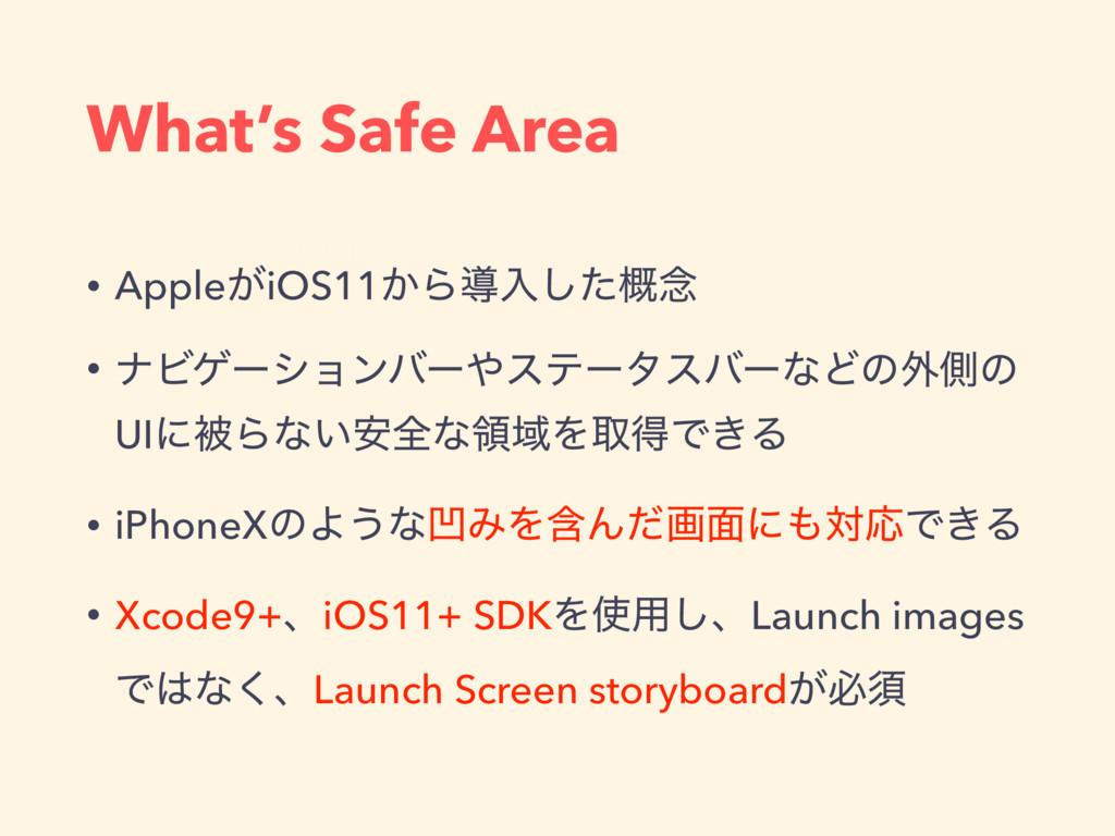 What's Safe Area API Roadmap • Apple͕iOS11͔Βಋೖ͠...
