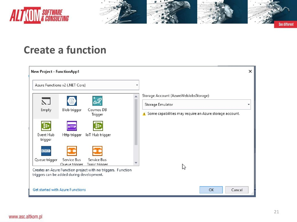 21 Create a function