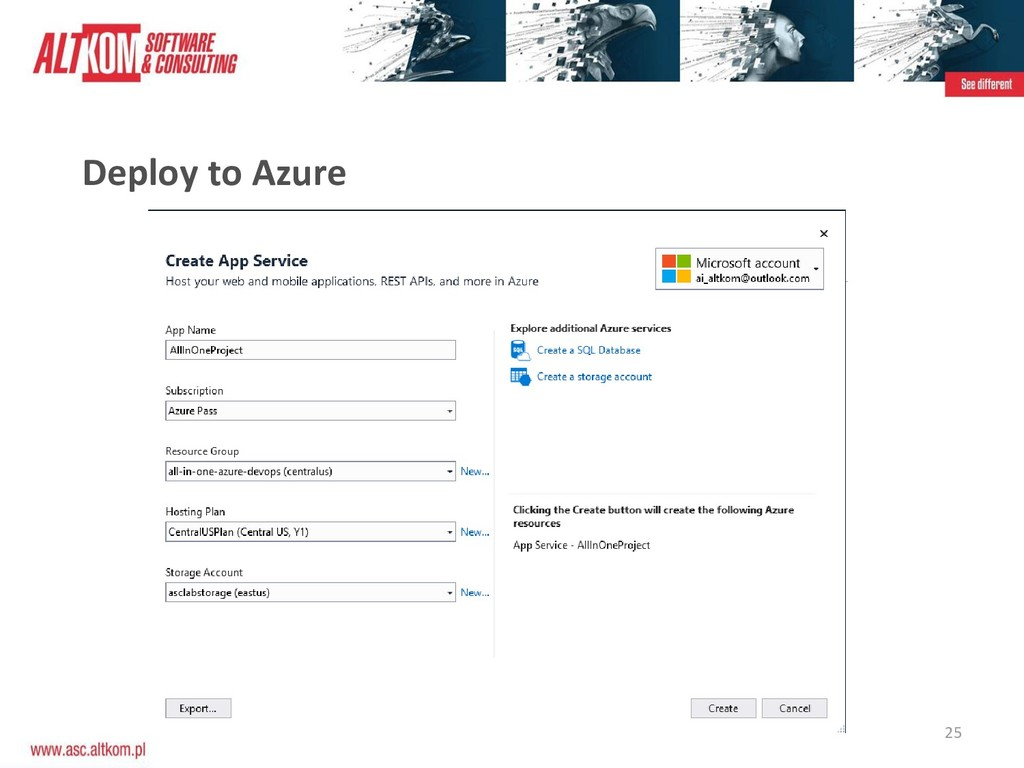 25 Deploy to Azure