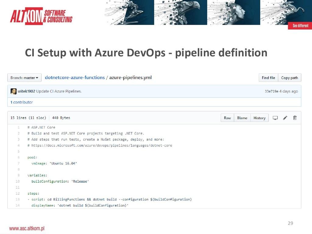 29 CI Setup with Azure DevOps - pipeline defini...