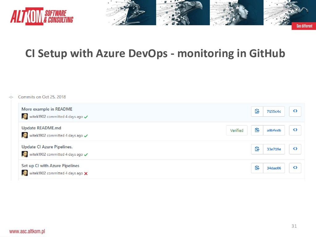 31 CI Setup with Azure DevOps - monitoring in G...