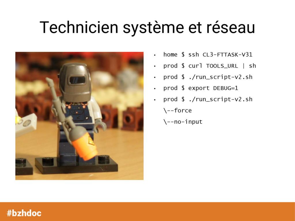 #bzhdoc Technicien système et réseau ● home $ s...
