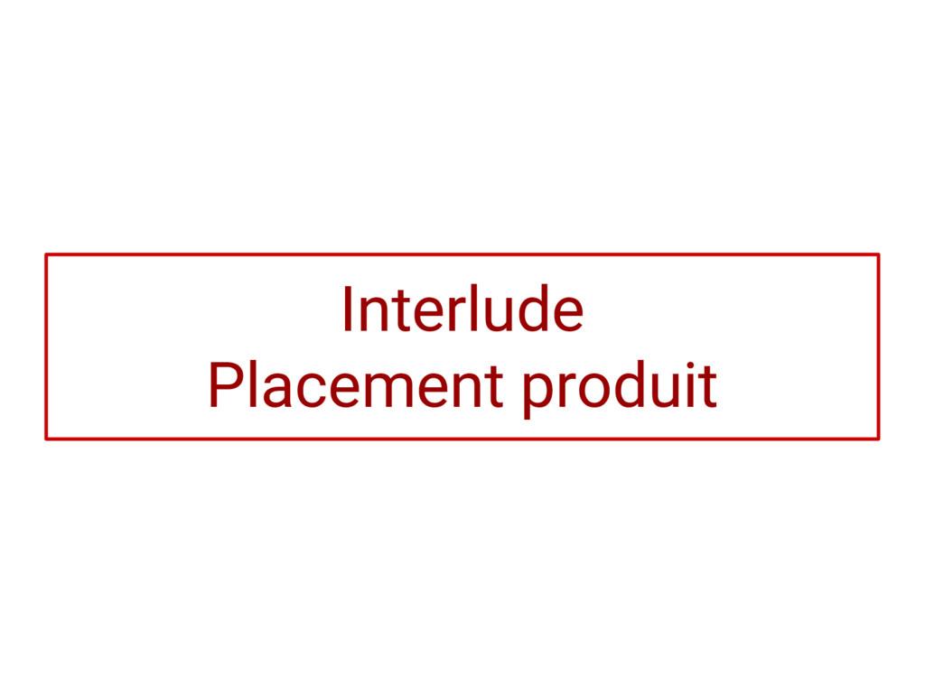 Interlude Placement produit