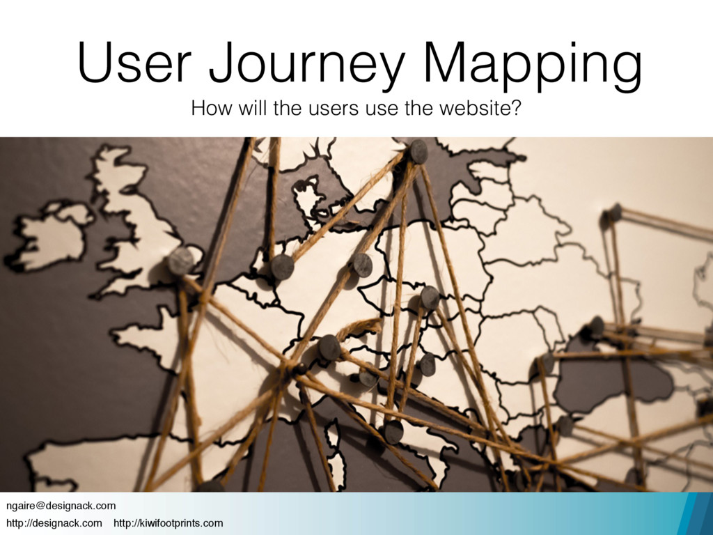 User Journey Mapping How will the users use the...