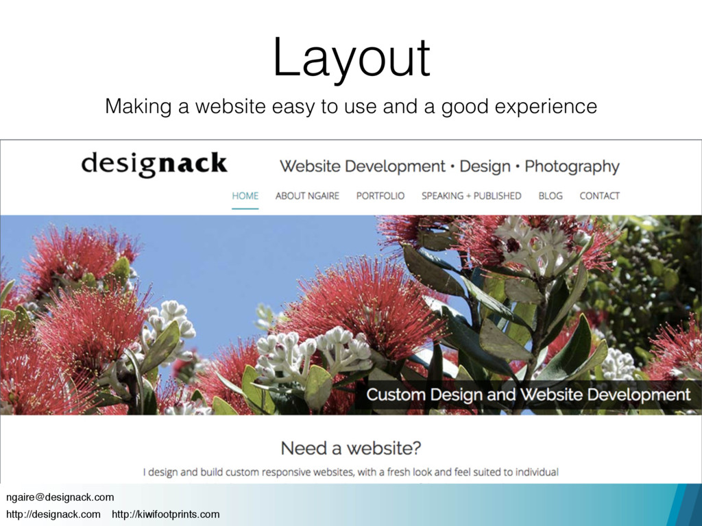 Layout Making a website easy to use and a good ...