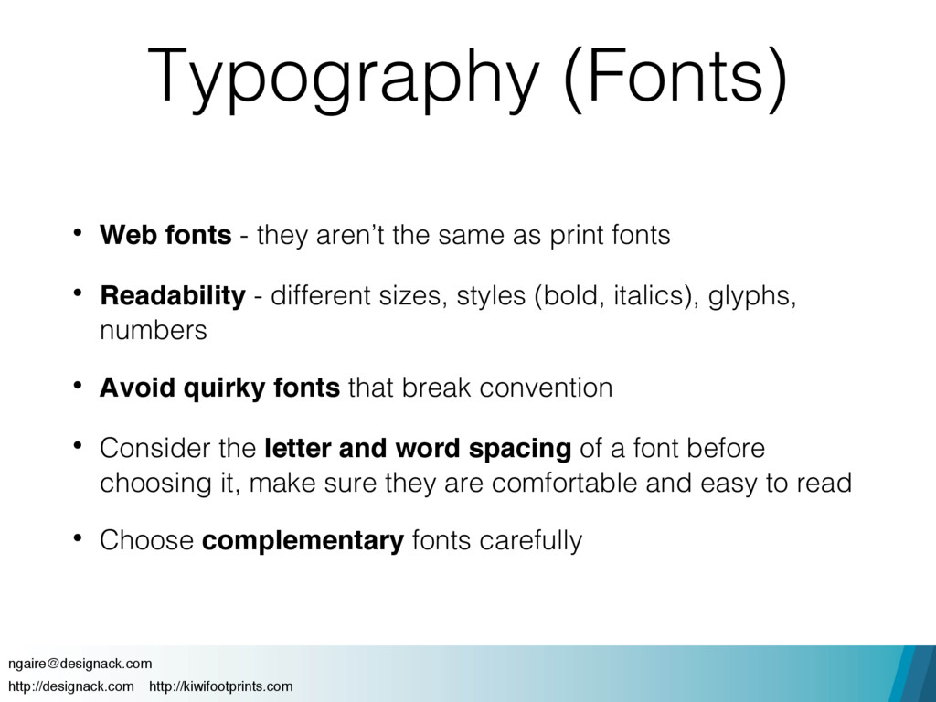 Typography (Fonts) • Web fonts - they aren't th...