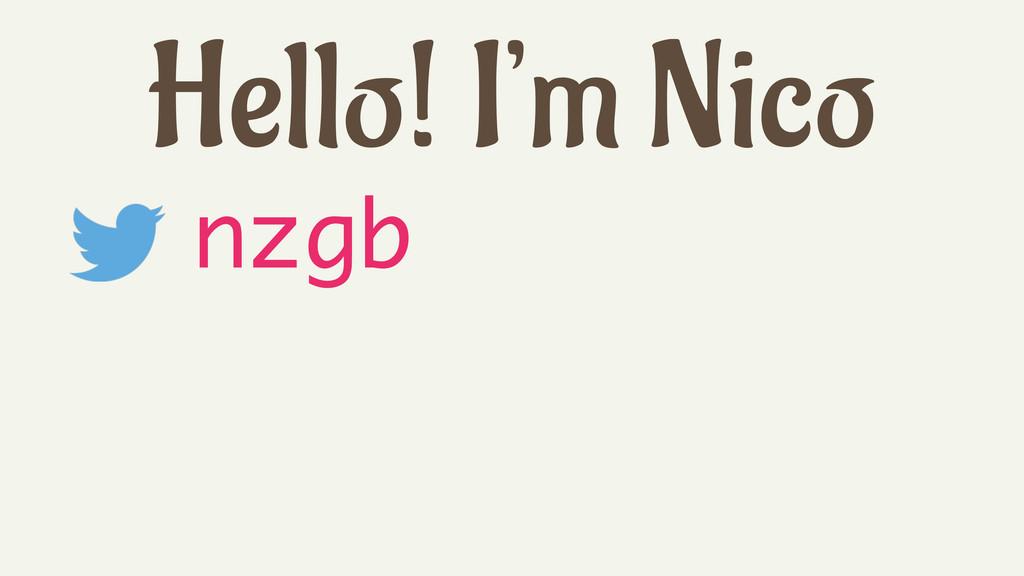 Hello! I'm Nico nzgb