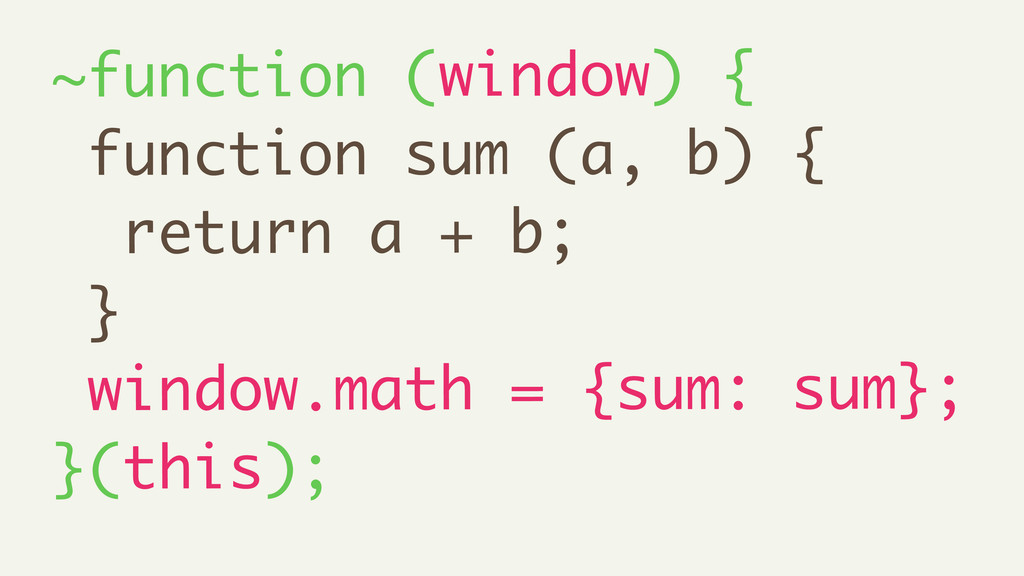 ~function (window) { function sum (a, b) { retu...
